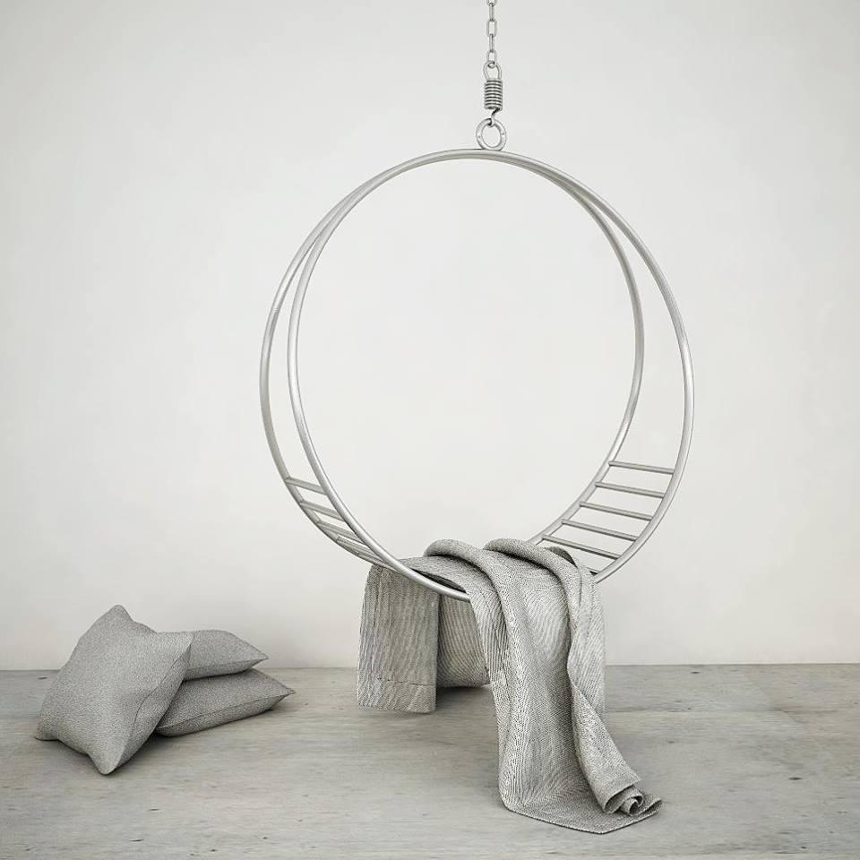metalowa huśtawka koło z poprzeczkami